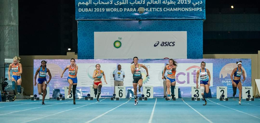 start finale 100 meter sprint dubai